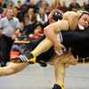 WRESTLE<br /> Boulder's Dylan Turley-Rule takes down Josh Gregory of Fairview in the 171-pound class. <br /> Photo by Marty Caivano/Camera/Dec. 9, 2010
