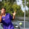 "Boulder High School's Miguel Sanchez returns the ball on Thursday, Sept. 22, during a tennis match against Fairview's Ignatius Castellino at Centennial Middle School in Boulder. For more photos of the matches go to  <a href=""http://www.dailycamera.com"">http://www.dailycamera.com</a><br /> Jeremy Papasso/ Camera"