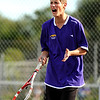 "Boulder High School's Julian Melcer shows his emotions on Thursday, Sept. 22, during a tennis match against Fairview's Johnny Combs at Centennial Middle School in Boulder. For more photos of the matches go to  <a href=""http://www.dailycamera.com"">http://www.dailycamera.com</a><br /> Jeremy Papasso/ Camera"