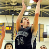 """Fossil Ridge High School senior Alex Blum shoots a two-pointer during a basketball game on Thursday, Jan. 27, at Boulder High School. Boulder defeated Fossil Ridge 54-51. Go to  <a href=""""http://www.dailycamera.com"""">http://www.dailycamera.com</a> for a photo gallery of the game.<br /> Jeremy Papasso/ Camera"""