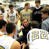 "Boulder High School Head Coach Alan Schulz talks with his team during a time-out at the basketball game against Fossil Ridge on Thursday, Jan. 27, at Boulder High School. Boulder defeated Fossil Ridge 54-51. Go to  <a href=""http://www.dailycamera.com"">http://www.dailycamera.com</a> for a photo gallery of the game.<br /> Jeremy Papasso/ Camera"