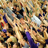 """Boulder High School fans cheer while a Boulder player shoots a free-throw during a basketball game on Thursday, Jan. 27, at Boulder High School. Boulder defeated Fossil Ridge 54-51. Go to  <a href=""""http://www.dailycamera.com"""">http://www.dailycamera.com</a> for a photo gallery of the game.<br /> Jeremy Papasso/ Camera"""