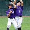 """Loic Guegan, left, and Dylan Platt, both of Boulder, collide while Platt was making a catch.<br /> For  more photos of the game, go to  <a href=""""http://www.dailycamera.com"""">http://www.dailycamera.com</a>.<br /> Cliff Grassmick  / August 2, 2012"""