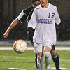 "Boulder High School's Joshua Branum moves the ball up the field during a soccer game against Montbello on Wednesday, Oct. 24, at Recht Field in Boulder. For more photos of the game go to  <a href=""http://www.dailycamera.com"">http://www.dailycamera.com</a><br />  Jeremy Papasso/ Camera"