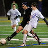 "Boulder High School's Matteo Wilczak tries to steal the ball from a Montbello player, No. 10 not listed on roster, during a soccer game against Montbello on Wednesday, Oct. 24, at Recht Field in Boulder. For more photos of the game go to  <a href=""http://www.dailycamera.com"">http://www.dailycamera.com</a><br />  Jeremy Papasso/ Camera"