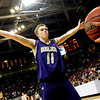 "Boulder High School senior Eric Rothweiller tries to block an inbound pass from a Regis player during the Colorado State High School Athletic Association boys class 5A Championship game against Regis Jesuit High School at the Coors Events Center on the University of Colorado campus in Boulder. Boulder lost to Regis 59-63. For more photos go to  <a href=""http://www.dailycamera.com"">http://www.dailycamera.com</a><br /> Jeremy Papasso/ Camera"