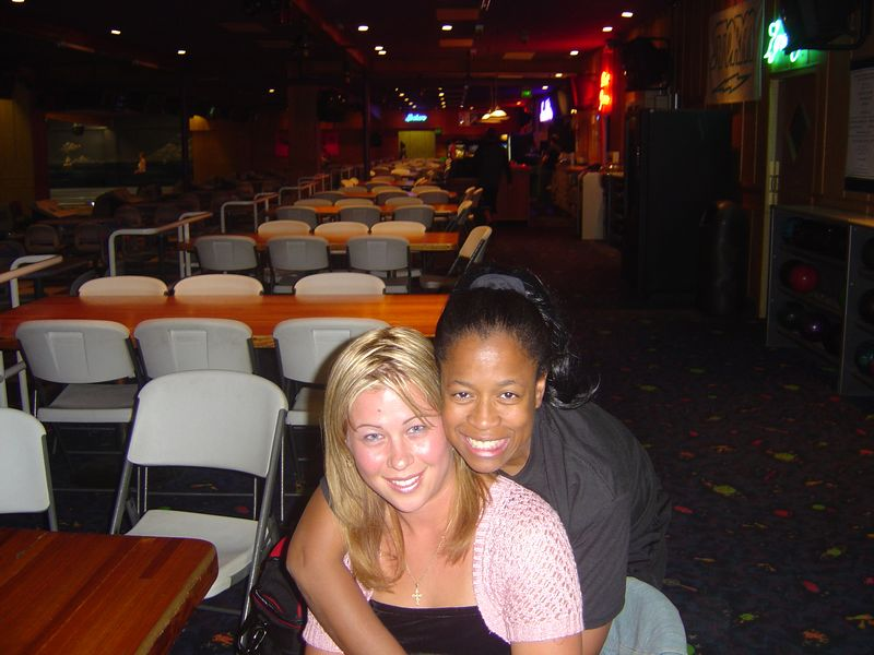 a pic of my best friend Tonya and I at Davis lanes at the beginning of the season...