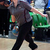 Mekaila McReynolds in action in D-B's bowling sectional match vs GP. Photo by Ned Jilton II