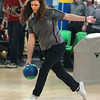 Holly McAvoy bowls during first game of match against Gatlinburg Pitman. Photo by Ned Jilton II