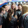 D-B girls get ready for their second game of the match against Gatlinburg Pitman in sectional bowling tourn. Photo by Ned Jilton II