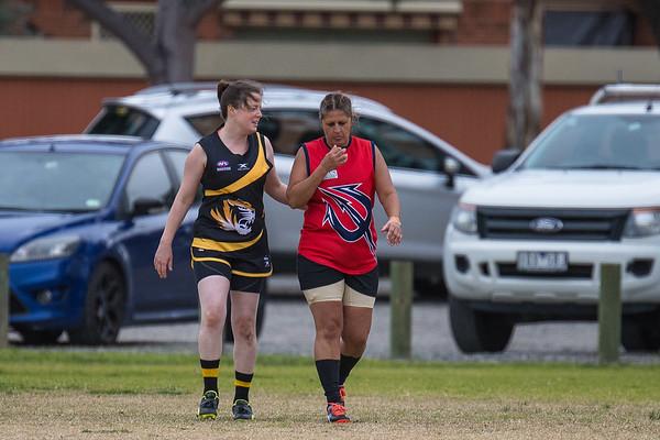 Box Hill North v Werribee - 2018 Monarch Women's AFL Masters Victorian Metropolitan Superules Round 4 Game 1