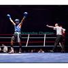 Traditionnel meeting de boxe de Pâques dans la salle polyvalente de Palézieux, organisé par le Boxing-Club de Châtel-St-Denis.<br /> Ici, le match entre Bruno Freitas (en bleu) et Julien Gaist, remporté par Freitas sur arrêt de l'arbitre.