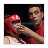 Traditionnel meeting de boxe de Pâques dans la salle polyvalente de Palézieux, organisé par le Boxing-Club de Châtel-St-Denis.<br /> Ici, Cornelia Schmidt et son homme de coin.