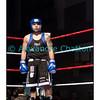 Samedi 7 avril 2012: traditionnel meeting de boxe organisé à Palézieux par le Boxing-Club de Châtel-St-Denis.<br /> Robert Barbezat (BC Martigny) surveille son adversaire, le Châtelois Bojan Todosjevic, en train de se faire soigner le nez dans le coin opposé.