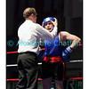 Samedi 7 avril 2012: traditionnel meeting de boxe organisé à Palézieux par le Boxing-Club de Châtel-St-Denis.<br /> L'arbitre réajuste le casque de Zeqa Riza, BC Winterthour (bleu).