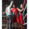 Samedi 7 avril 2012: traditionnel meeting de boxe organisé à Palézieux par le Boxing-Club de Châtel-St-Denis.<br /> Stéphane Oberson, BC Châtel-Saint-Denis, dans son coin après sa victoire contre Sabaratnam Janakan, BC Lugano.