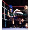 Samedi 7 avril 2012: traditionnel meeting de boxe organisé à Palézieux par le Boxing-Club de Châtel-St-Denis.<br /> Ornella Domini, BC Genevois, reprend son souffle entre deux rounds de son match (perdu) contre la Lausannoise Anais Kistler.