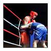 Samedi 7 avril 2012: traditionnel meeting de boxe organisé à Palézieux par le Boxing-Club de Châtel-St-Denis.<br /> Michaël Celeschi, BC Châtel-Saint-Denis (rouge), contre Franscella Marzio, BC Lugano (bleu), un véritable bulldozer, selon Celeschi.