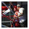 Samedi 7 avril 2012: traditionnel meeting de boxe organisé à Palézieux par le Boxing-Club de Châtel-St-Denis.<br /> Anais Kistler, BC Lausanne, reprend son souffle entre deux rounds de son match (gagné) contre Ornella Domini, BC Genevois.