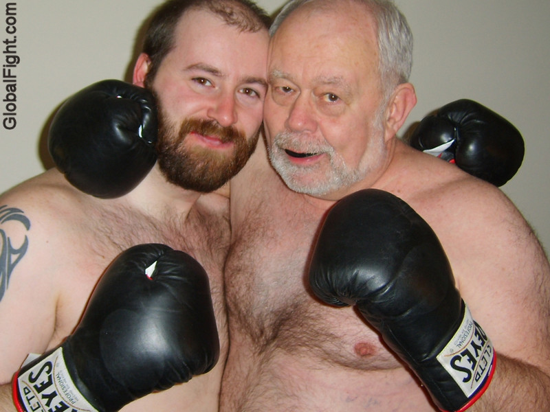 a 60 years older boxing bear