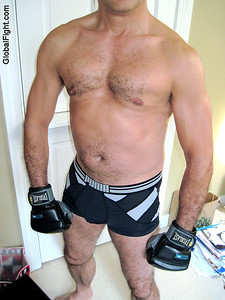 hairy legged boxer dude