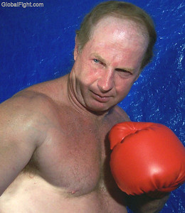 handsome older man boxing pictures