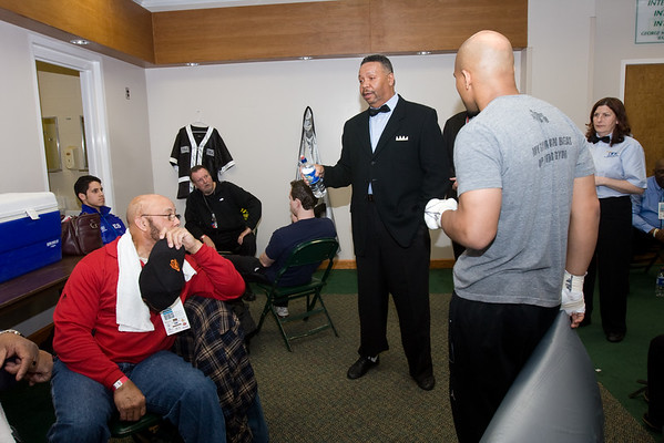 3.6.10 Referee Billy Johnson laying the rules down pre-fight.