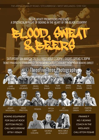 Boxing Event Posters