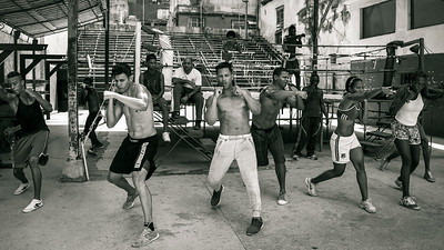 Young boxers training at the famous Gimnasio de Boxeo Rafael Tejo, Rafael Tejo