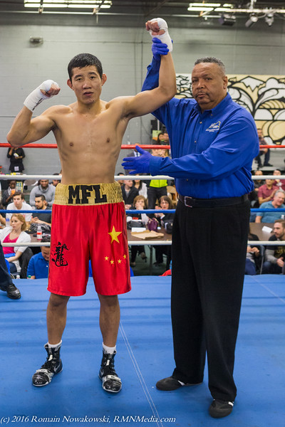Meng Fenlong scores a 1st round TKO @ 2:59.  Meng is now 6-0 with 4 KO's!