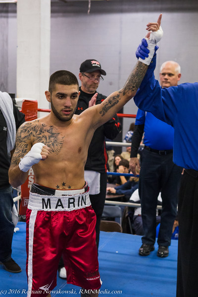 Marin wins the bout with a TKO in the 2nd round.  He is now 10-0 with 7 KO's to his credit.