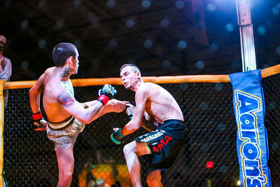 Wins at 2:28 into the second round by triangle choke. Terry VanHoosier (right) with the Panhandle MMA vs Joseph Ybarra in the 130 lb match