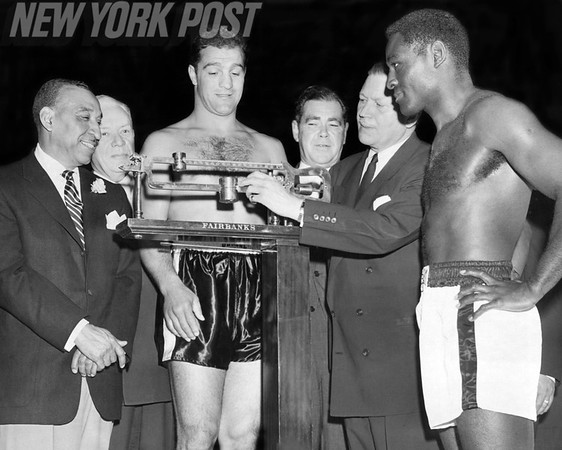 Rocky Marciano Surprisingly Outweighed Ezzard Charles. 1954
