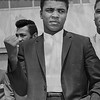 Boxer Cassius Clay means business as soon as he arrives in New York