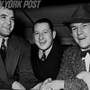 Promoter Joe Gould between opponents Tommy Farr and Jim Braddock