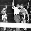 Jimmy Dupree in Boxing Match At Madison Square Garden. 1965.