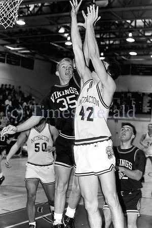 Archive shots of Methacton boys basketball hosting Upper Merion February 5, 1991