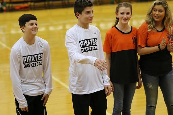 08JH Junior High Boys Basketball and Cheerleaders 2018