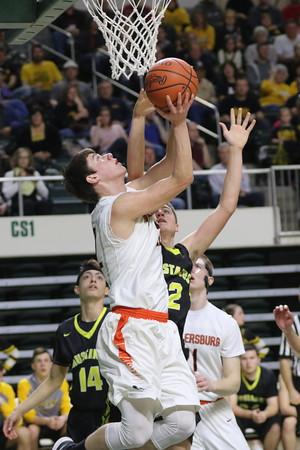22 Boys Basketball:  Wheelersburg vs. Lynchburg-Clay (District) 2018