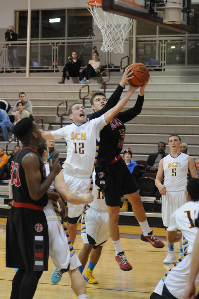 Gene Walsh — The Times Herald Germantown Academy takes on Springside Chestnut Hill Academy in the Philadelphia Inter-Academic basketball tournament at Philadelphia University January 3, 2015.