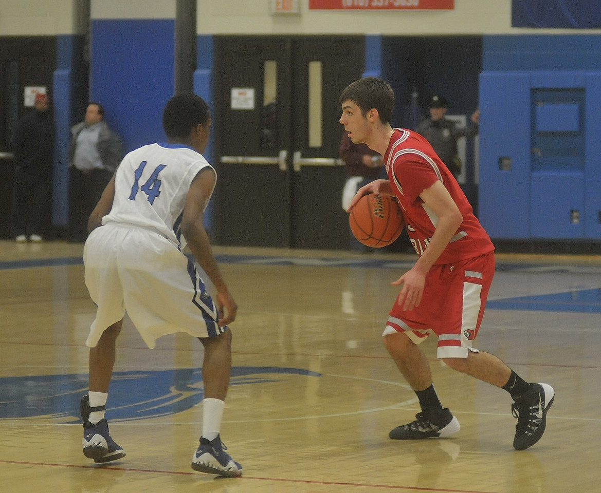 Upper Dublins plays Boys Basketball against Norristown Area High School.  West Norriton, December 17, 2013.  Photo by Adrianna Hoff/Times Herald Staff.