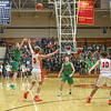 Northridge junior Sam Smith (30) shoots a 3-point shot during Saturday<br /> night's sectional championship game in Elkhart.
