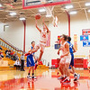 Westview Warriors senior Drew Litwiller (25) goes up for a lay-up during Tuesday's game at Westview Junior-Sr. High School in Topeka.