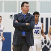 JAY YOUNG   THE GOSHEN NEWS<br /> Frustrated with his team's play, Bethany Christian coach Ryan Gingerich calls a time out during the Bruins' game against Triton on Friday evening at Bethany.