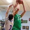 SAM HOUSEHOLDER | THE GOSHEN NEWS<br /> Concord junior Filip Serwatka shoots over Lakeland's Daemyn Preistley