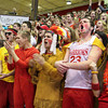 CHAD WEAVER | THE GOSHEN NEWS<br /> Westview fans cheer prior to the start of the 2A Semi-state game against Lewis Cass Saturday, March 22 at Huntington North High School.