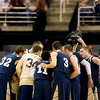 Record-Eagle/Jan-Michael Stump<br /> Traverse City St. Francis huddle before facing Flint Beecher in Saturday's Class C state finals in East Lansing.