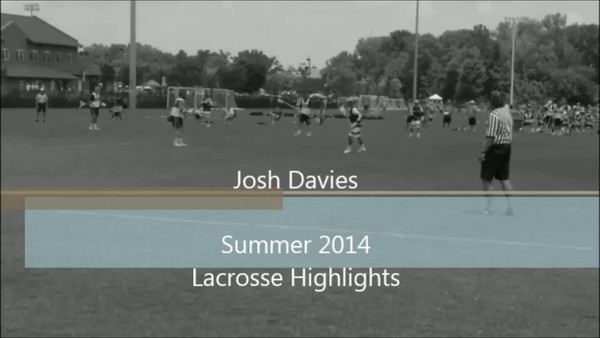 Josh Davies Summer 2014 Lacrosse Highlights