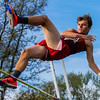 JAY YOUNG | THE GOSHEN NEWS<br /> Elkhart Memorial's Tyler BonDurant clears the bar while competing in the pole vault during the 75th running of the Goshen Relays Saturday at Goshen High School.