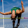 JAY YOUNG | THE GOSHEN NEWS<br /> Northridge's Sam Grewe clears the bar while competing in the high jump during the 75th running of the Goshen Relays Saturday at Goshen High School.